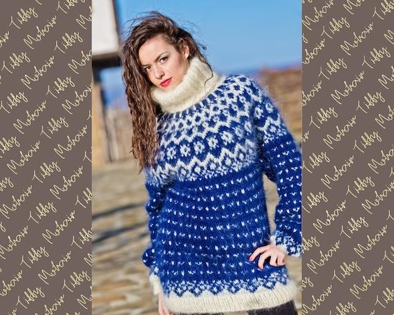 Lopi Mohair Sweater, Icelandic knit pattern T219