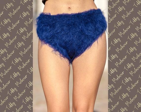 Mohair Panties, Fluffy Bries, Hand Knitted Panties Winter Underwear, Fuzzy Panties, Fetish Underwear, Mohair Briefs, Fluffy Panties T408