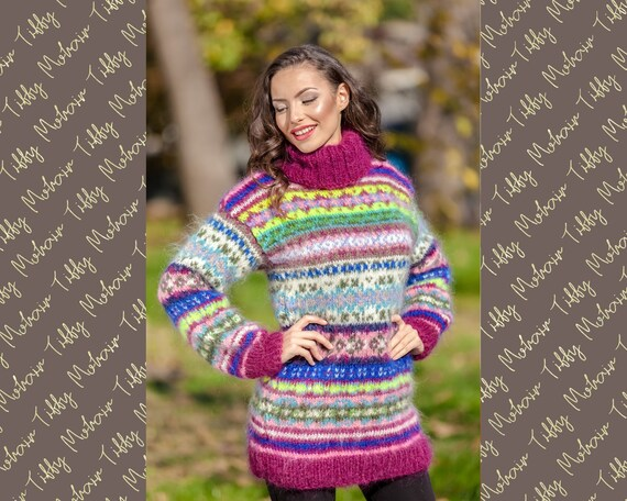 Scandinavian Vintage Sweater, Nordic Knit Sweater T384