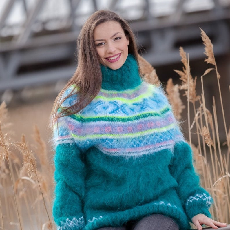 Mohair Sweater Lopi Sweater Icelandic Sweater Hand Knit  e24083287