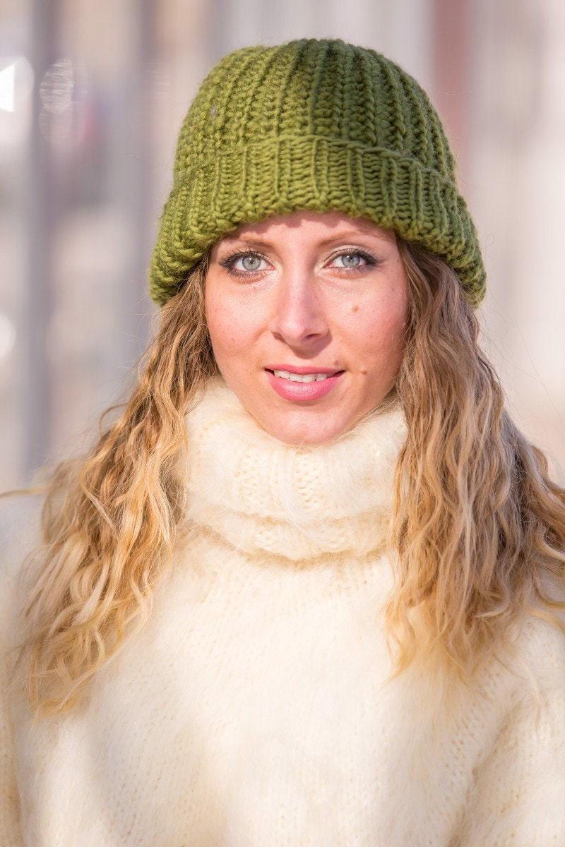 Ready to Ship Green Wool Hat 90a41741130