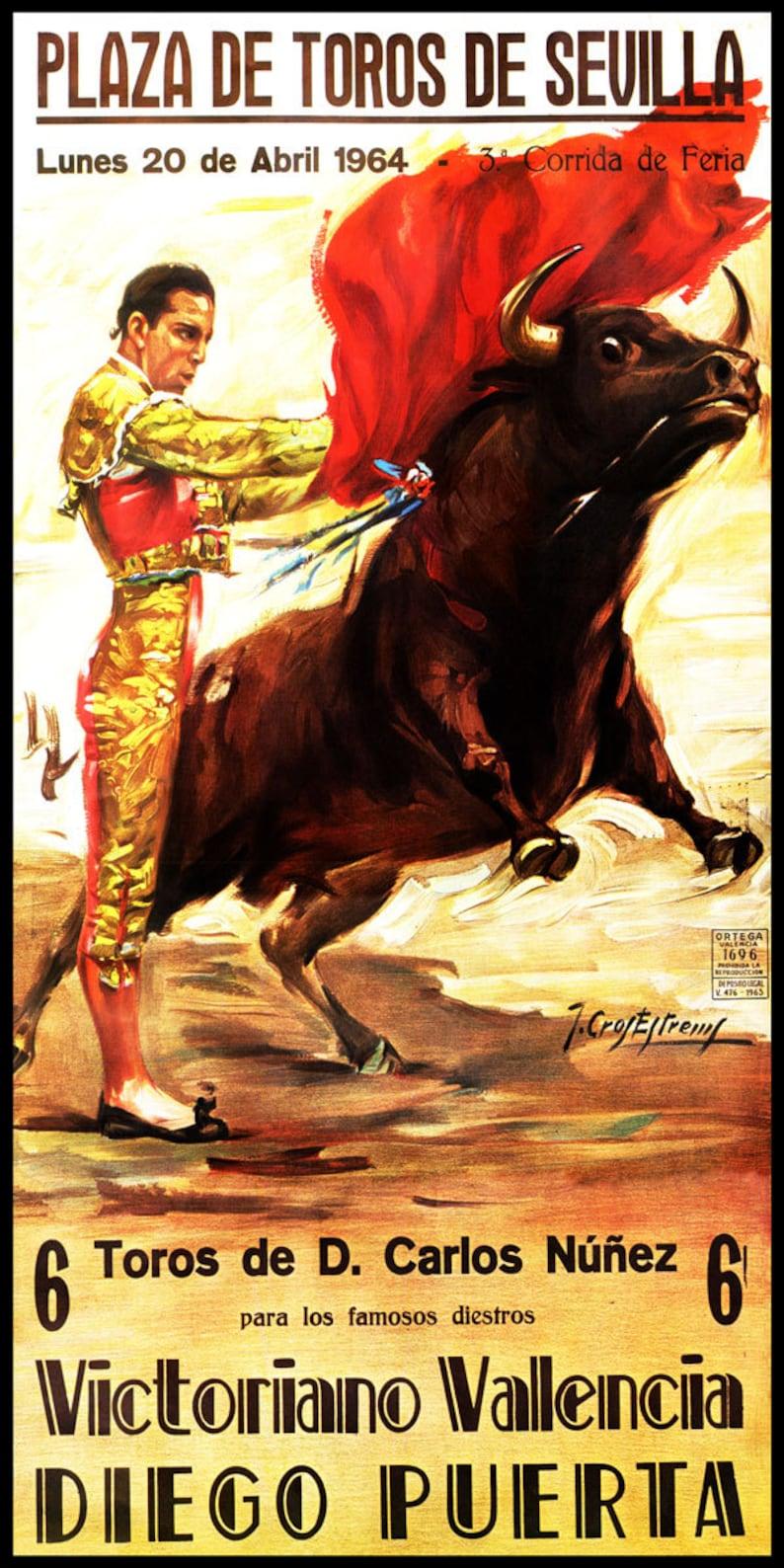 "Plaza De Toros De Madrid #4 Canvas Art Poster 12/""x 24/"" Bullfighting"