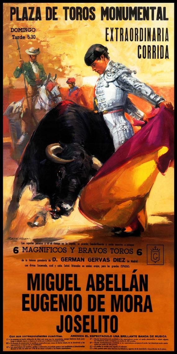 "Plaza De Toros De Valencia #19 Canvas Art Poster 12/""x 24 Bullfighting"