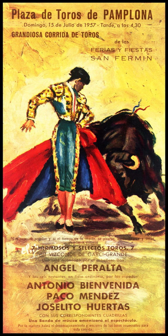 "Bullfighting Plaza De Toros #4 Canvas Art Poster 12/""x 24/"""
