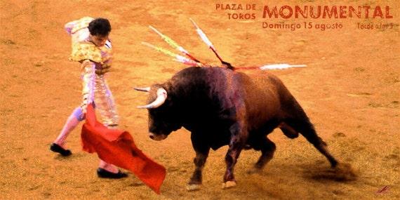 "Bullfighting Plaza De Toros De Valencia #17 Canvas Art Poster 12/""x 24"