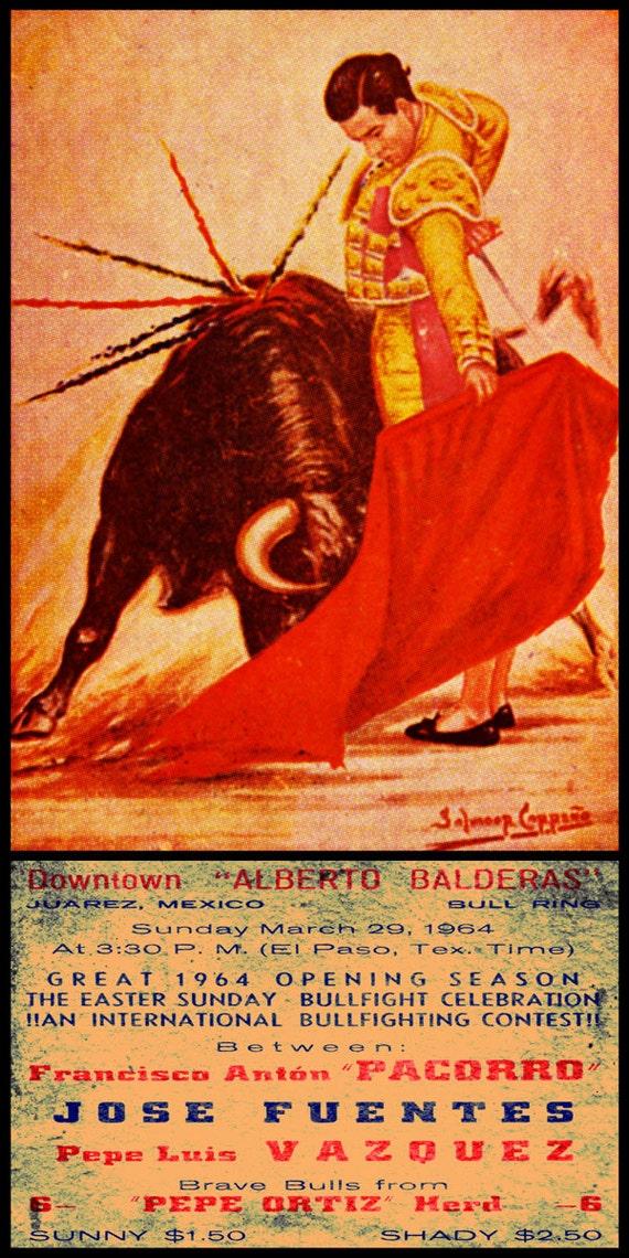 "Plaza De Toros De Ciudad Juarez #13 Canvas Art Poster 12/""x 24/"" Bullfighting"