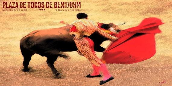 "Plaza De Toros De Benidorm #1 Canvas Art Poster 12/""x 24/"" Bullfighting"