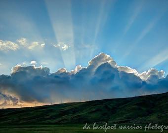 5x7 Photo Note Card of Ma'alaea Glory Sunset