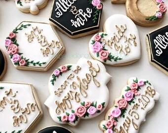 floral bridal shower cookie set