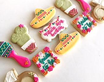 fiesta bridal shower cookie set