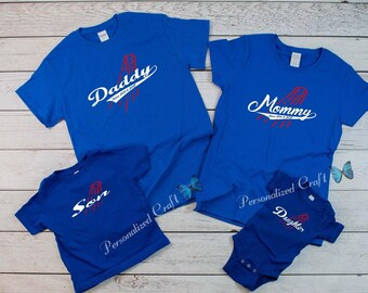f4751103876 Personalized DODGER FAMILY Dodgers Baseball Tees T-shirt