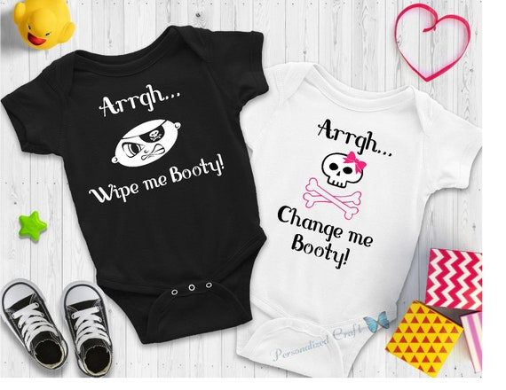 Custom Toddler T-Shirt Arghhh Funny Humor Boy /& Girl Clothes Wipe Me Booty