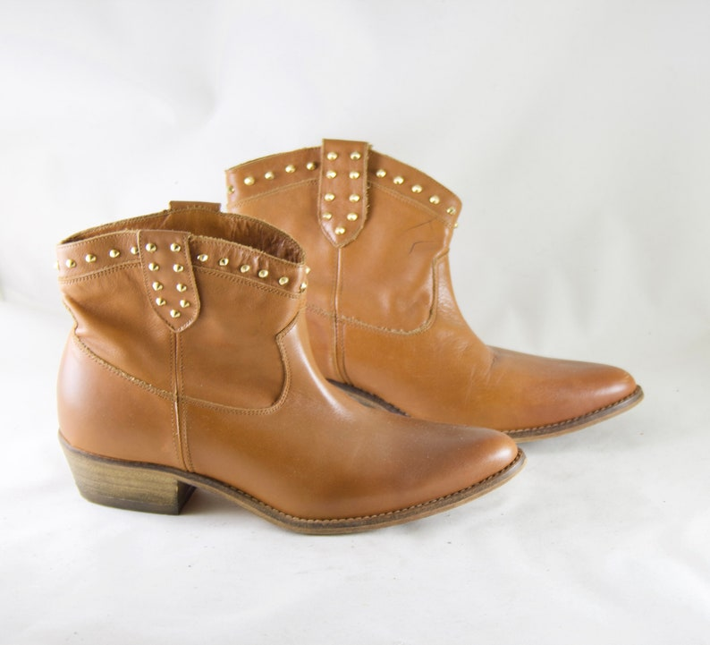 timeless design e9038 2a81c camel boots / camel booties / brown boots / low boots /