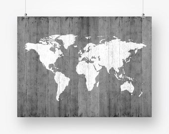 Map of the world map poster download map wood texture etsy map of the world map poster download gray world map wood texture printable large size wall art decor digital print instant download 18x24 gumiabroncs Images