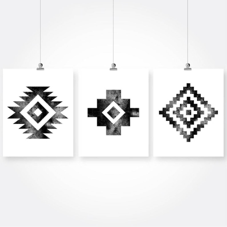 Tribal Wall Art Black And White Download Native American