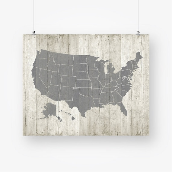 Map Of United States Printable.United States Map Printable Download Large Us Usa Map Poster Wood Rustic Wall Art Decor Jpg Printable Digital Print Instant Download Pdf Jpg