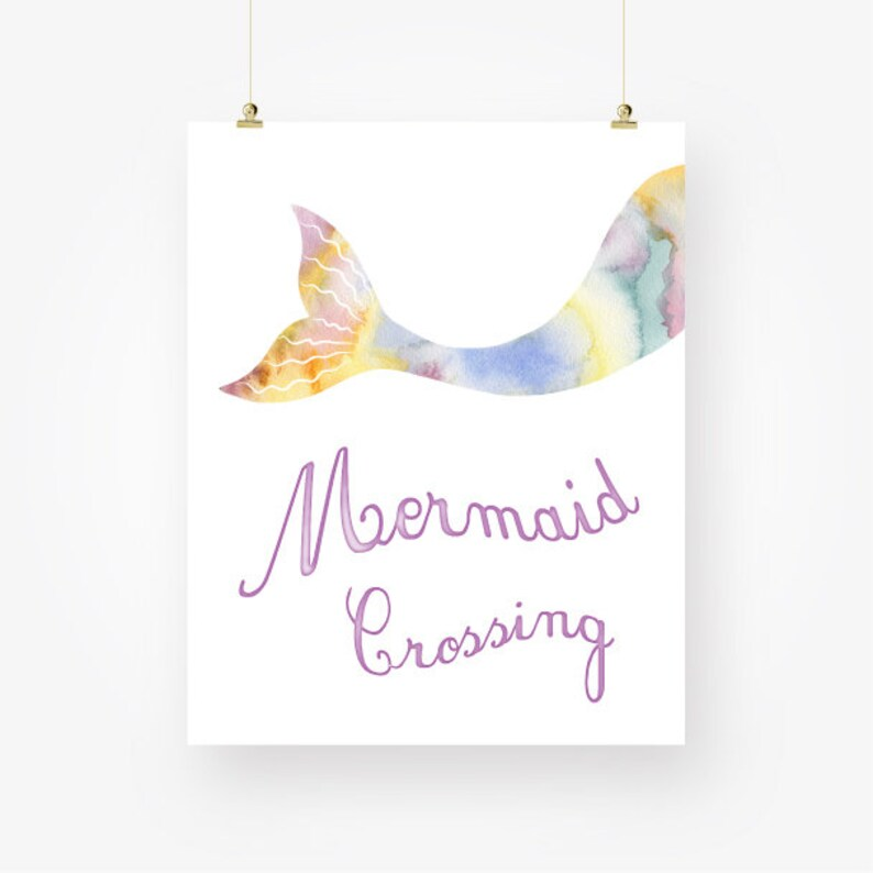 image relating to Mermaid Tail Printable identify watercolor mermaid tail printable females house sea ocean nursery wall artwork decor indicator mermaid crossing electronic print pdf prompt obtain jpg