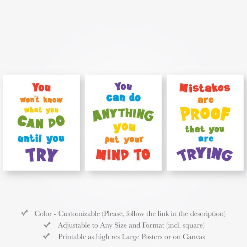 Motivational quotes kids room download inspirational wall ...