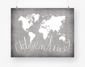 World map tan brown adventure poster download world map world map digital download neutral grey and white world map printable adventure sign monochrome last minute gift world map wall art jpg gumiabroncs Image collections