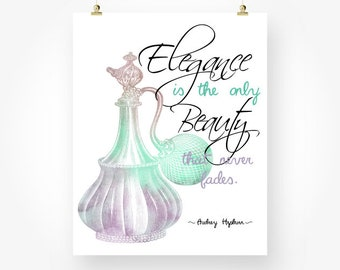 audrey hepburn quotes download, mint green lavender wall art jpg, audrey hepburn printable quotes, quote posters digital download, perfume
