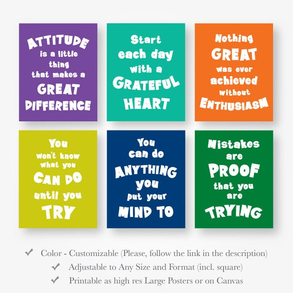 image relating to Printable Motivational Posters referred to as motivational estimate posters young children down load inspirational vibrant little one place wall artwork preset decor jpg pdf printable electronic print fast obtain