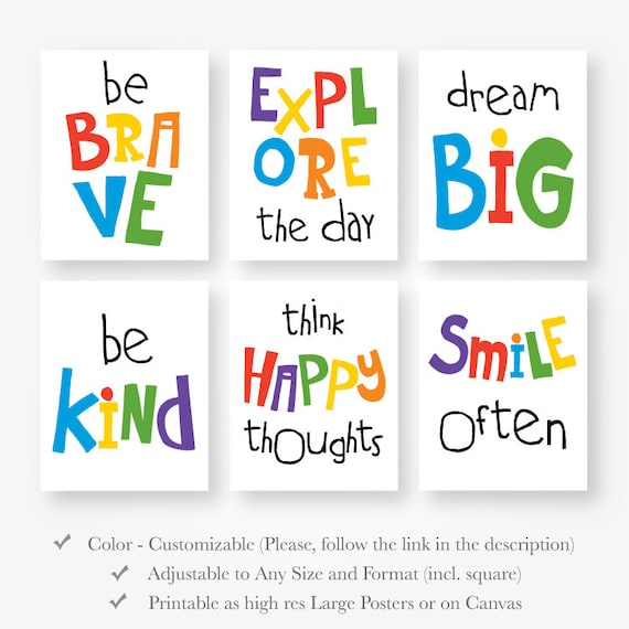 Motivational Playroom Quotes Kids Download Girls Boys Room