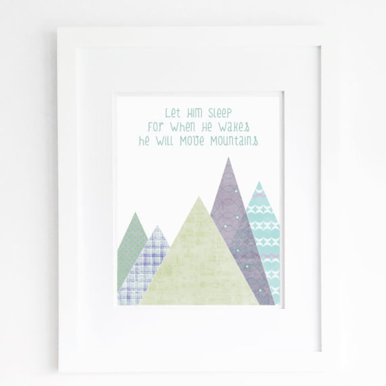 b837074c4bcd9 let him sleep printable boy nursery quote blue green youll move mountain  wall art decor poster sign digital print instant download jpg pdf