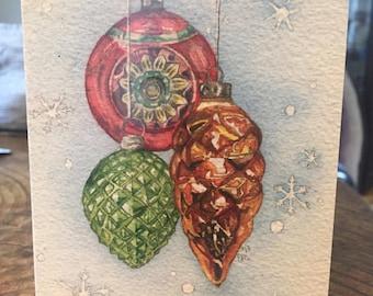 Vintage Ornament Card Set of 3