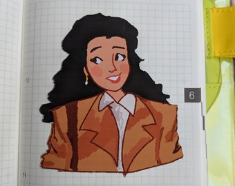 Elaine Benes Sticker - Seinfeld