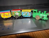 Vintage Antique Tin Litho Marx Walt Disney Productions Wind Up Train Display Only See Pics