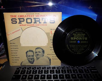1940s Greatest Moments in Sports 45 Record Features Babe Ruth and Lou Gehrig See Pic