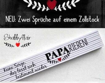 Zollstock Logo mit Herz-Design Geschenk Vater-Tag Geburtstag I love Papa