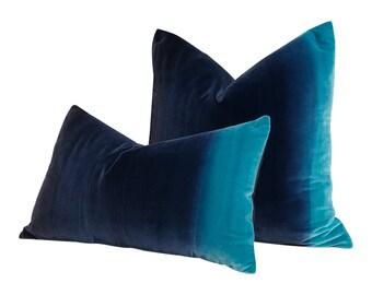 ab7299f556 Harlequin Designer Ombre Velvet Pillow in Blueberry