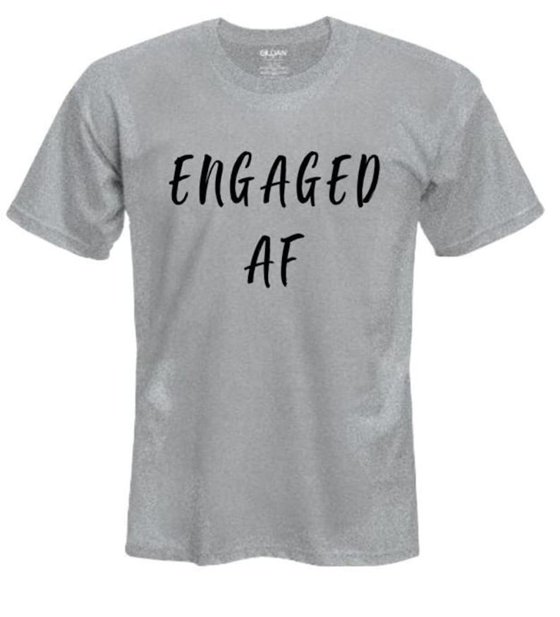 800872f96 Custom Vinyl T-Shirt/Custom Engagement Tee/His and Hers   Etsy