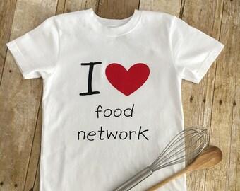 Custom Vinyl T-Shirt/Kids Custom T-Shirt/food network/cooking/love to eat/love to cook/food/vinyl/heart/expression/Vinyl t-shirt/custom tees