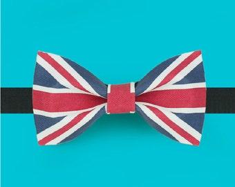 Flag  Bowtie - Union jack Bowtie - British Bowtie - UK flag bowtie