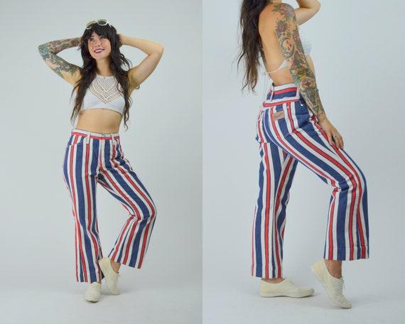 28 waist 1970 WRANGLER Jeans Vintage Stripe Flare