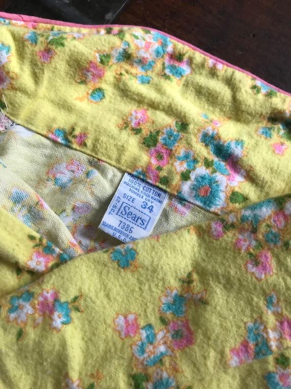 S/M 1960s Floral Pjs Vintage Two Piece Pajama Set… - image 5