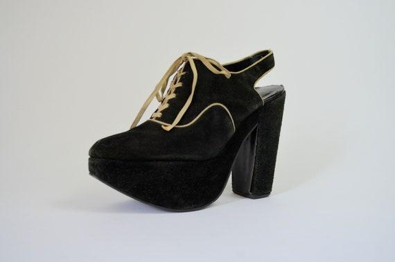 1970s Vintage Heels | 7.5 - 8 | NORDSTROM Black Su