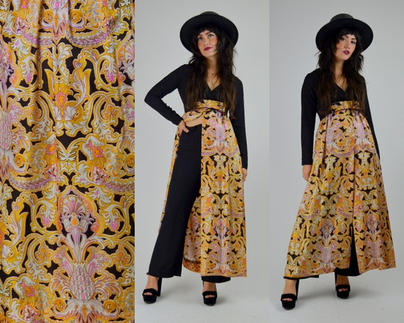 XS 1960s Two Piece Set Vintage 60s Psychedelic Jum