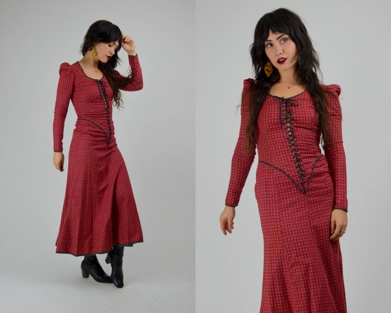 XS 1970s BETSEY JOHNSON Alley Cat Dress Vintage 70