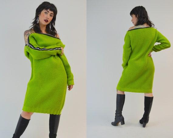 1980s BETSEY JOHNSON Sweater Dress Vintage 80s Pun