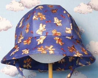 Infant Teddy Bear Cotton Sun Hat