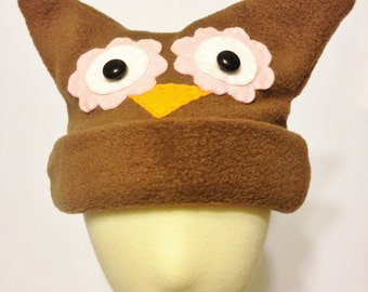 Infant Fleece Owl Hat