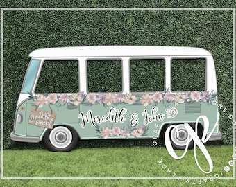 Car photo booth frame VW Bus photo booth prop Wedding | Etsy