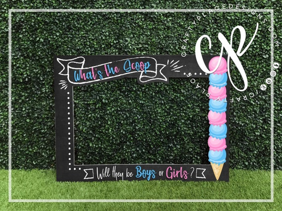 27X Baby Shower Photo Booth Props Kid Girls Gender Reveal Selfie Party Game Tool