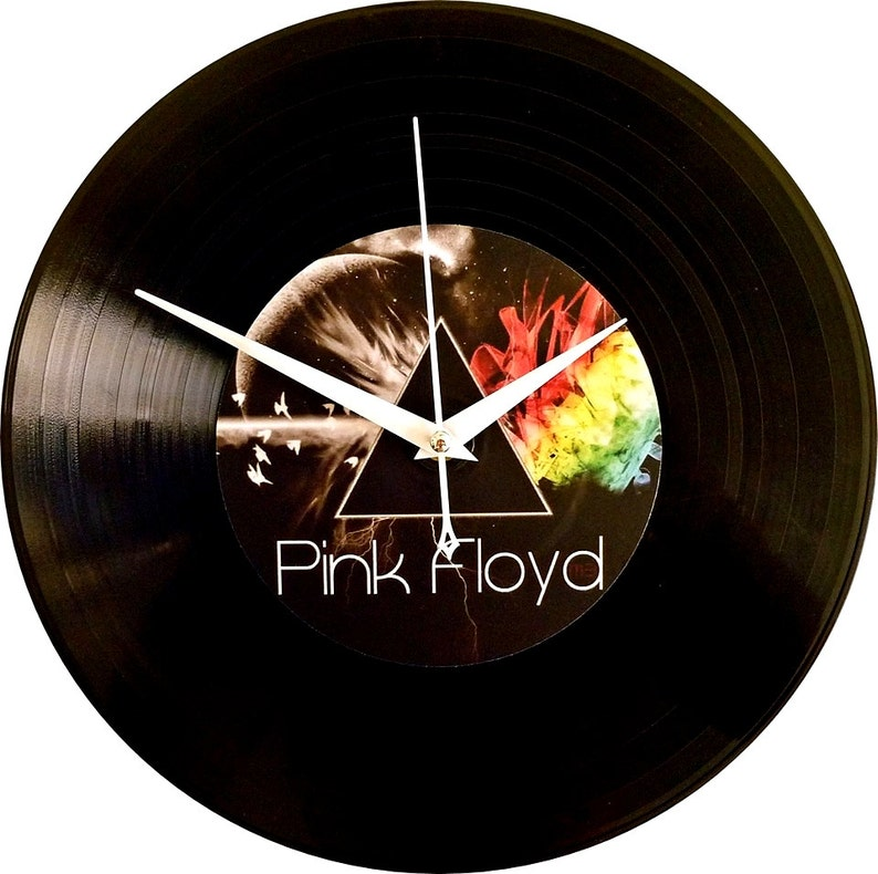 Handmade Vinyl Record Wall Clock, Pink Floyd, Vinyl Art Home Wall Decor,  Best friends birthday gift, Gift for her, Gift for him, Music