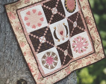 Fully Glazed Table Topper or Wallhanging Quilt Pattern Version No. 1 By Eye Candy Quilts