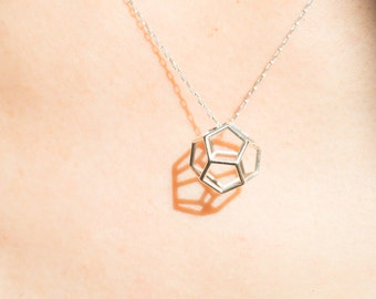 Dodecahedron pendant | necklace | bracelet, gold, sterling silver, brass, geometric, platonic solids
