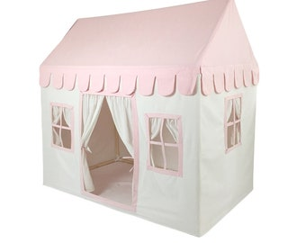 The Playhouse! Cream and Pink Soft Cotton Canvas with Canvas Carry Bag